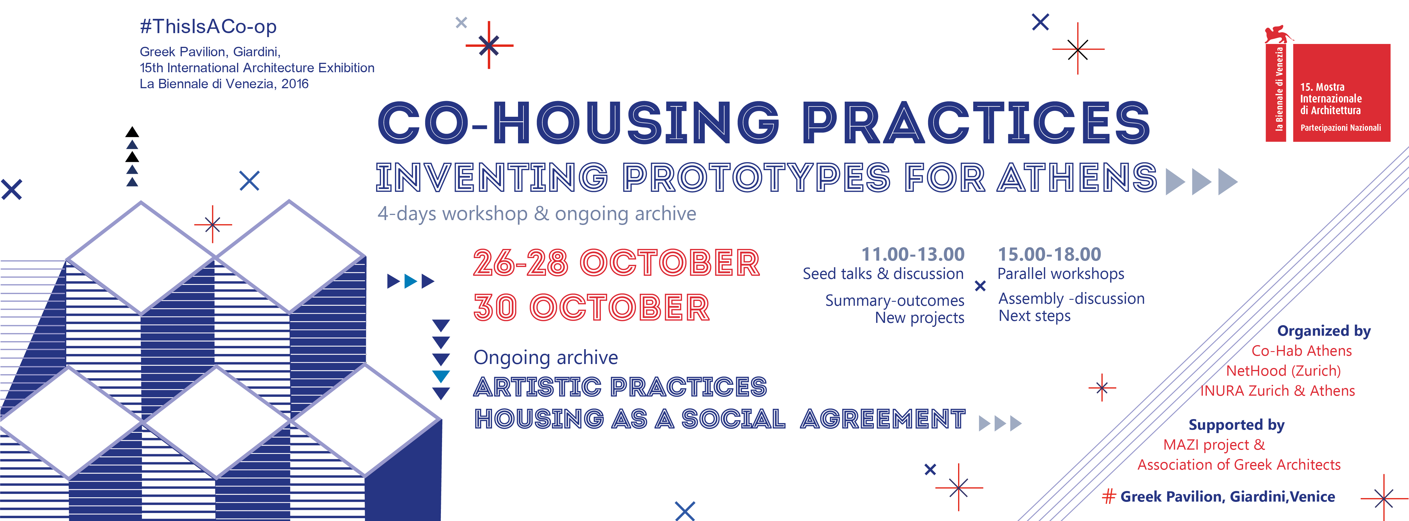 """Co-housing Practices/Inventing prototypes for Athens"" 